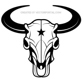 Bison Skull Graphics Free Vector