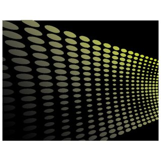 Black Background with Green Dots Free Vector