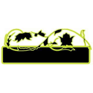 Black Banner with Green Border Free Vector