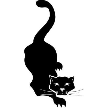 Black Cat Clip Art 1 Free Vector