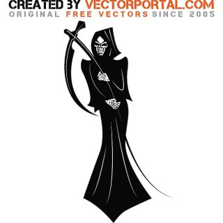 Black Death Monster Free Vector