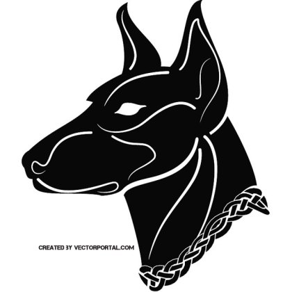 Black Dog Illustration Free Vector