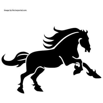 Black Horse Art Free Vector