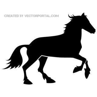 Black Horse Illustration Free Vector