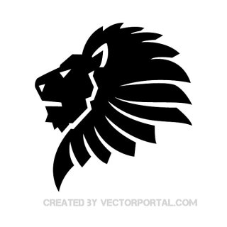 Black Lion Clip Art Free Vector