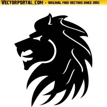 Black Lion Illustration Free Vector