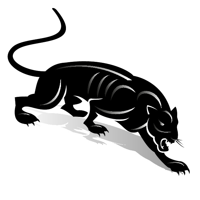 Black Panther Clip Art Free Vector