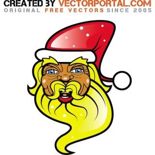 Black Santa Claus Free Vector