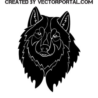 Black Wolf Image Free Vector