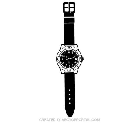 Black Wrist Watch Free Vector
