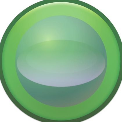 Blank Glossy Button Free Vector