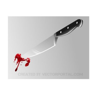 Bloody Knife Image Free Vector