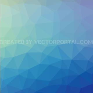 Blue Abstract Low Poly Free Vector