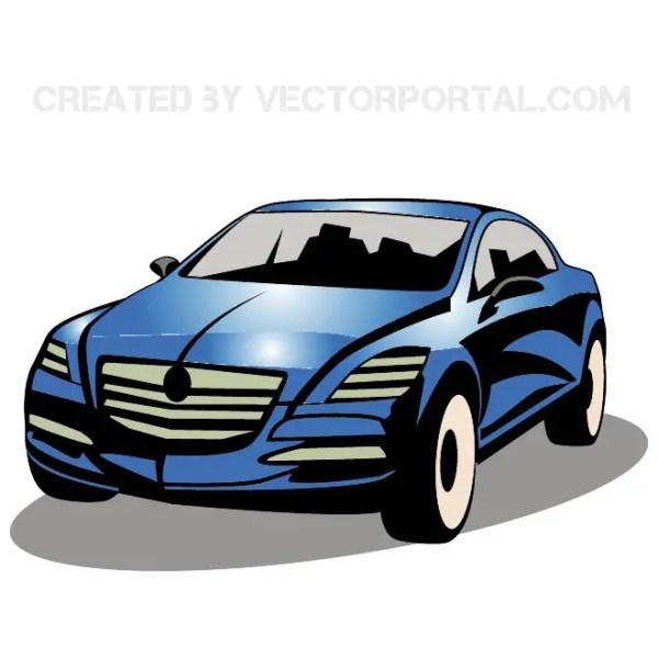 Blue Car Image Free Vector