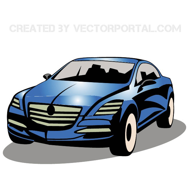 Blue Car Image Free Vector