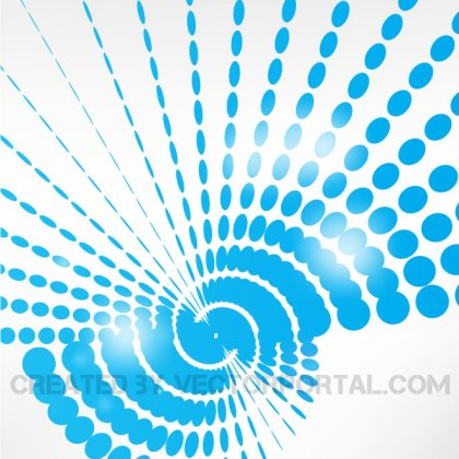 Blue Dots Glossy Design Free Vector