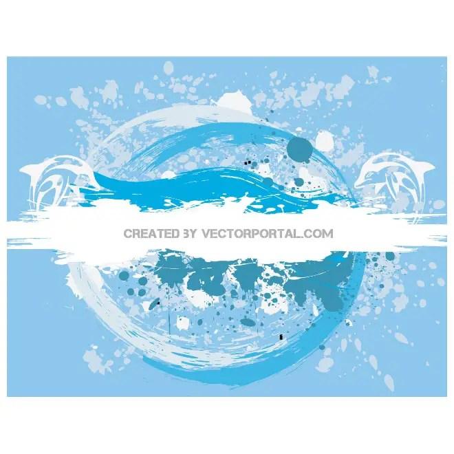 Blue Grunge Free Vector