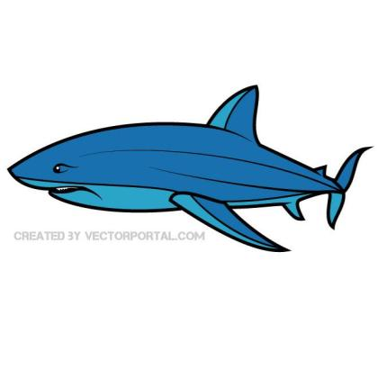Blue Shark Image Free Vector