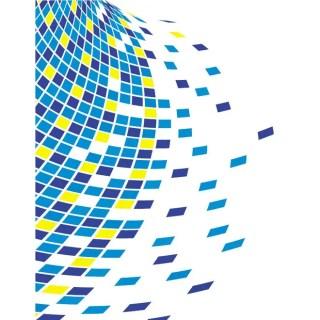 Blue Tiles Stock Free Vector