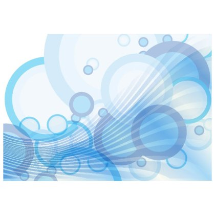 Blue Water Bubbles Free Vector