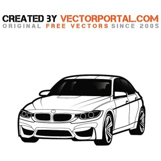 Bmw Car Graphics Free Vector