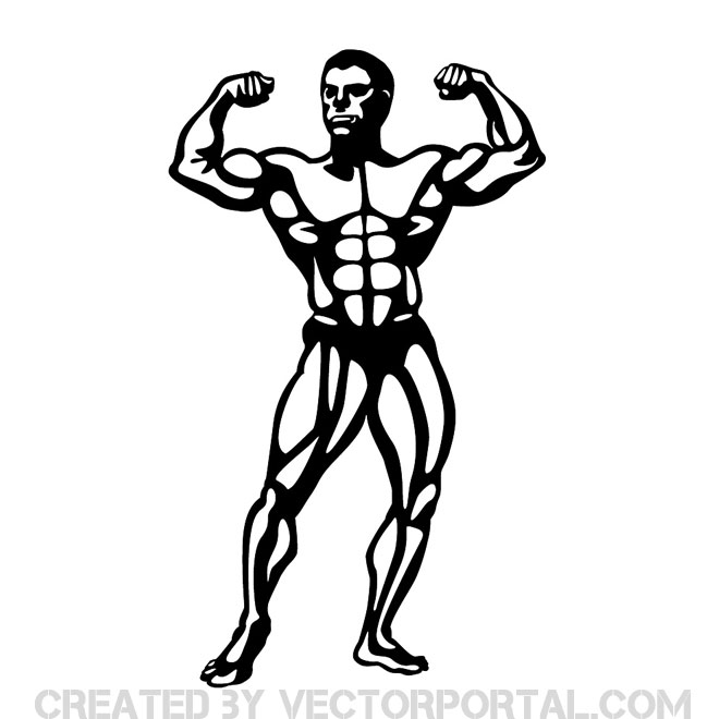 Bodybuilder Image Free Vector