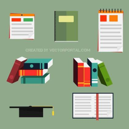 Book Icons Pack Free Vector