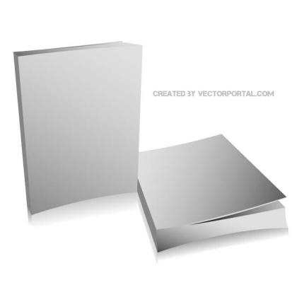 Book Mock-Up Graphics Free Vector