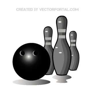 Bowling Graphics Free Vector