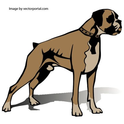 Boxer Dog Free Vector