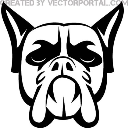 Boxer Dog Illustration Free Vector