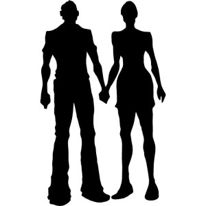 Boy and Girl Silhouette Free Vector