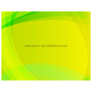 Bright Green Swooshes Free Vector