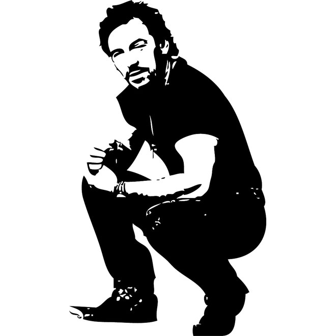Bruce Springsteen Free Vector