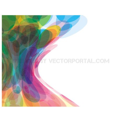 Bubbles in Colors Background Free Vector
