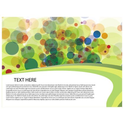Bubbles in Colors Free Vector