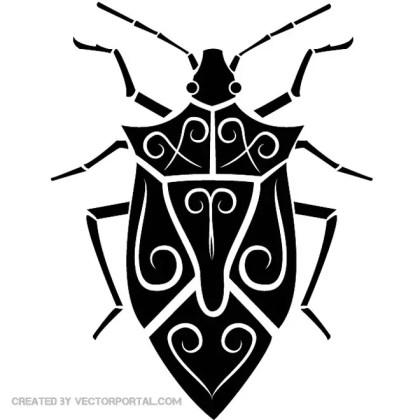 Bug Tribal Style Free Vector