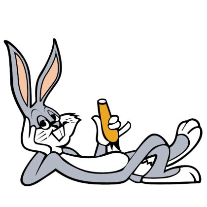 Bugs Bunny Eating Carrot Graphics Free Vector