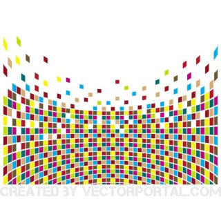 Bursting Colorful Cubes Free Vector