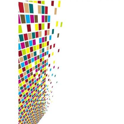 Bursting Tiles Background Free Vector