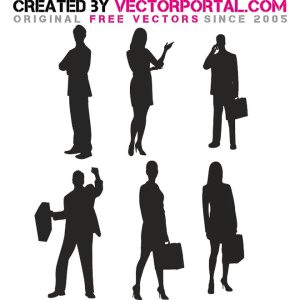Business Silhouettes Free Vector