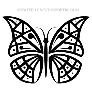 Butterfly Art Free Vector