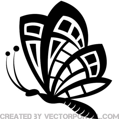 Butterfly Clip Art Graphics Free Vector