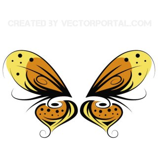 Butterfly Drawing Free Vector