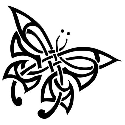 Butterfly Free Tribal Free Vector