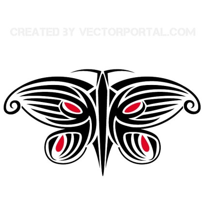 Butterfly Insect Design Free Vector