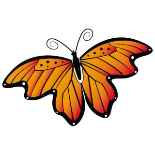 Butterfly Orange Image Free Vector