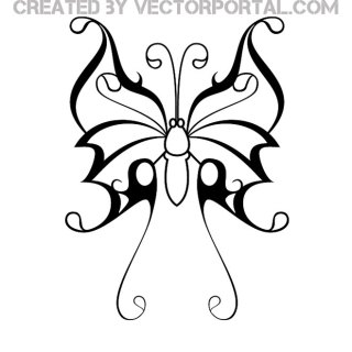 Butterfly Tattoo Free Vector
