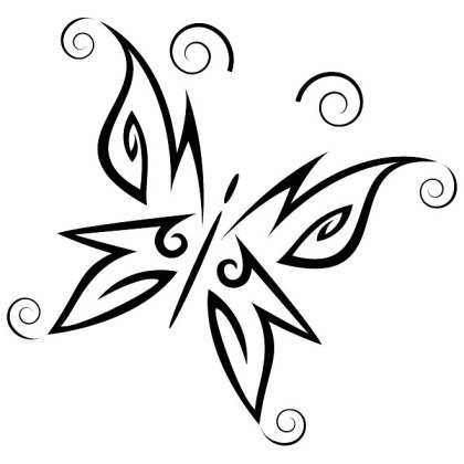Butterfly Tribal Style Free Vector