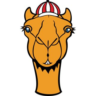 Camel with Hat Free Vector